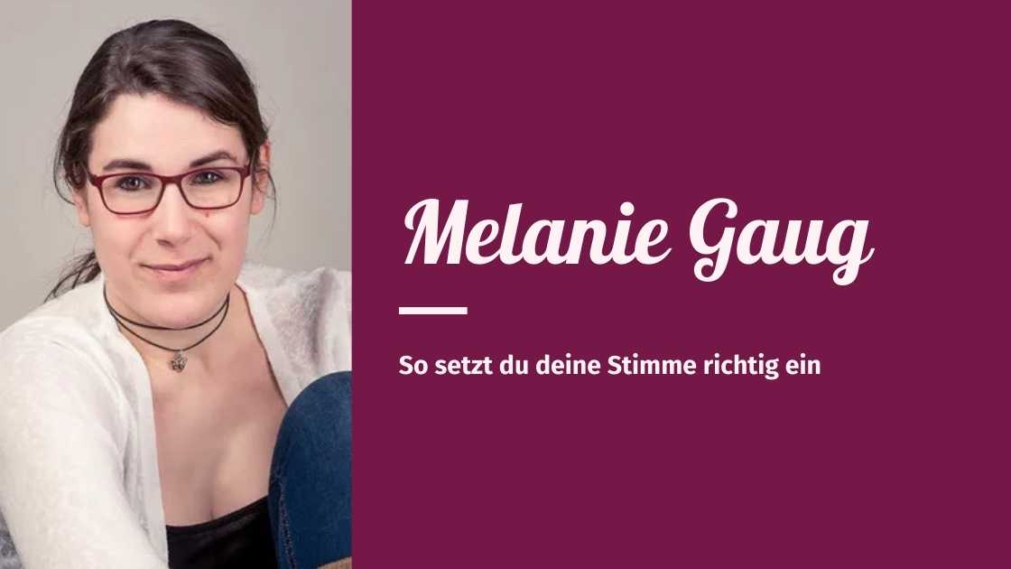 You are currently viewing Melanie Gaug